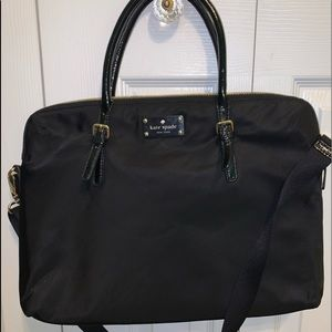Kate Spade black laptop bag comes with dust cover
